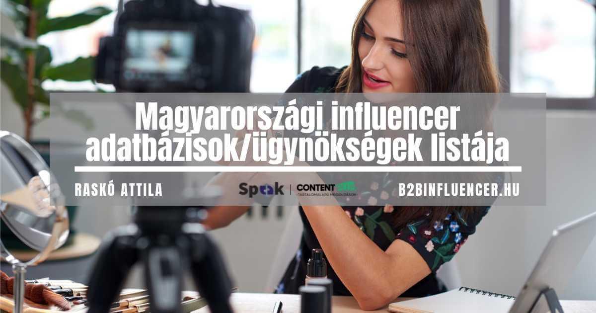 Magyarországi influencer ügynökségek listája